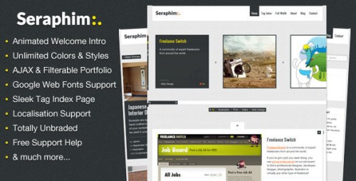 Seraphim - AJAX and Animated Portfolio Theme