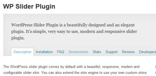 WP Slider Plugin