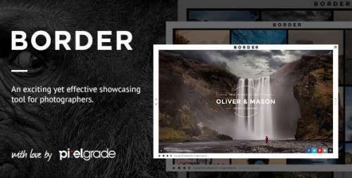 BORDER - Delightful Photography WordPress Theme