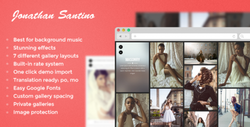 Santino - Photography WordPress Theme