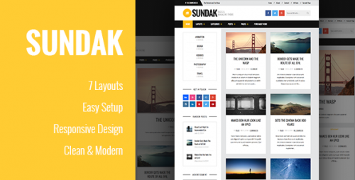 Sundak - Blog and Magazine WordPress Theme