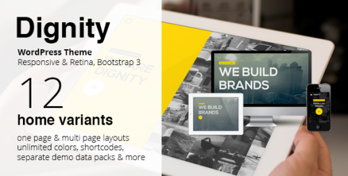 Dignity - WordPress One Page Responsive Portfolio Theme