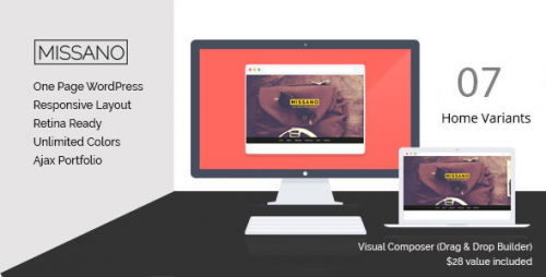 MISSANO - WordPress One Page Responsive Portfolio Theme
