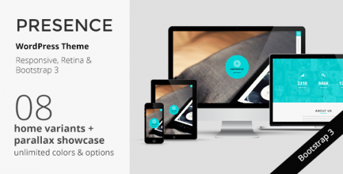 Presence - WordPress Responsive One Page Parallax Theme