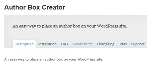 Author Box Creator