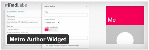 Metro Author Widget