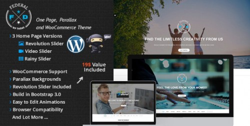Federal One Page Multi-Purpose WooCommerce Theme