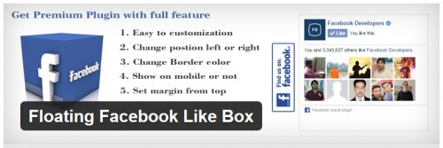 Floating Facebook Like Box