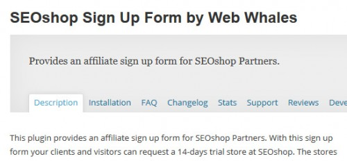 SEO Shop Sign Up Form by Web Whales