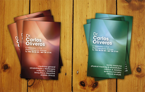 Dr. Oliveros Business Cards