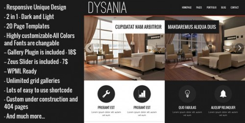 Dysania - Responsive Multi-Purpose WordPress Theme