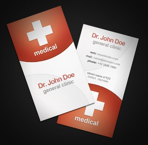 Elegant Medical Business Card