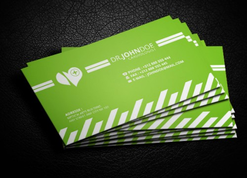 Green Medical Business Card Trend