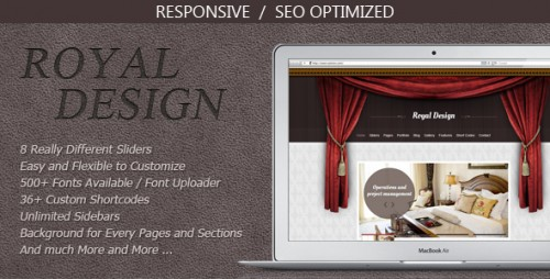 Royal Design - Modern and Clean WordPress Theme