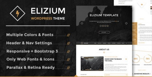 Elizium: Parallax Multipurpose WordPress Theme