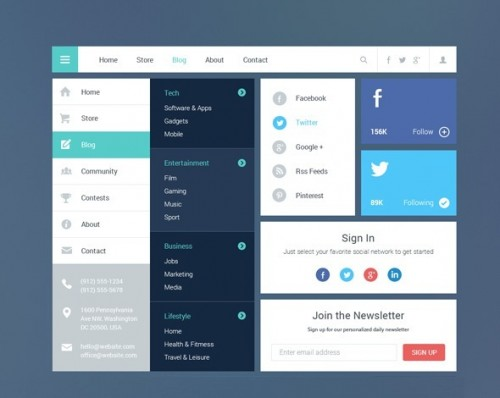 Blog and Magazine UI Kit