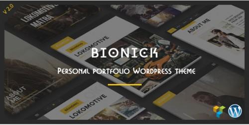 Bionick - Personal Portfolio WordPress Theme
