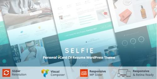 Selfie - Personal vCard CV Portfolio WP Theme