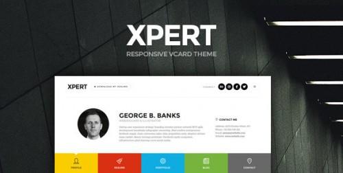 Xpert - Responsive CV Resume WordPress Theme