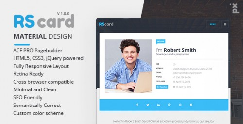 MultiProfile Resume CV & Portfolio WordPress Theme