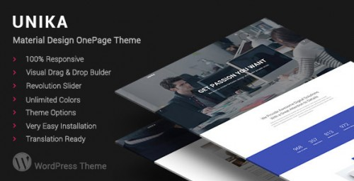 Unika - Responsive Material Design WordPress Theme