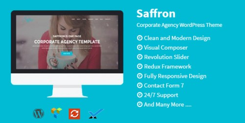 Saffron - Corporate Multipurpose WordPress Theme