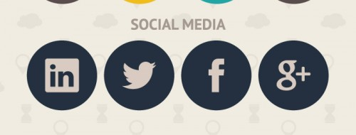 Animated Social Media Flat Icons