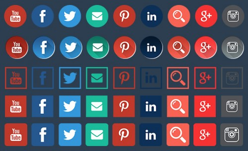 Beautiful Free Social Icons for Download