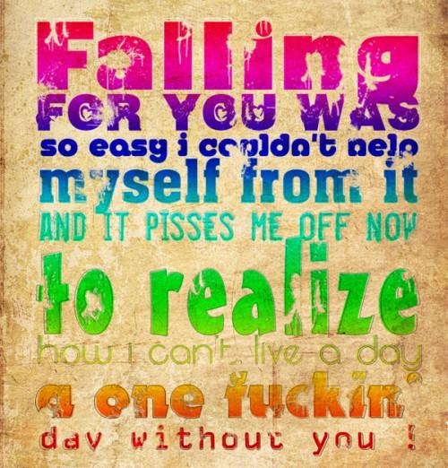 Typography - Falling